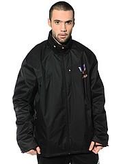 Продам новую куртку неприталенная весна-осень на полного мужчину 56/174-182 Россия черный полиэстер