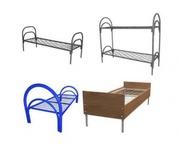 кровати металлические одноярусные для больницы,  кровати для школ. опт