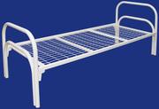 Одноярусные металлические кровати для вагончиков,  кровати одноярусные.