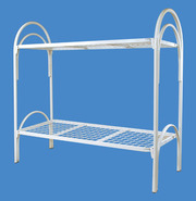 Железные двухъярусные кровати для бытовок,  кровати для общежитий.