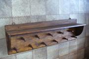 продам старинную антикварную настенную вешалку-полку